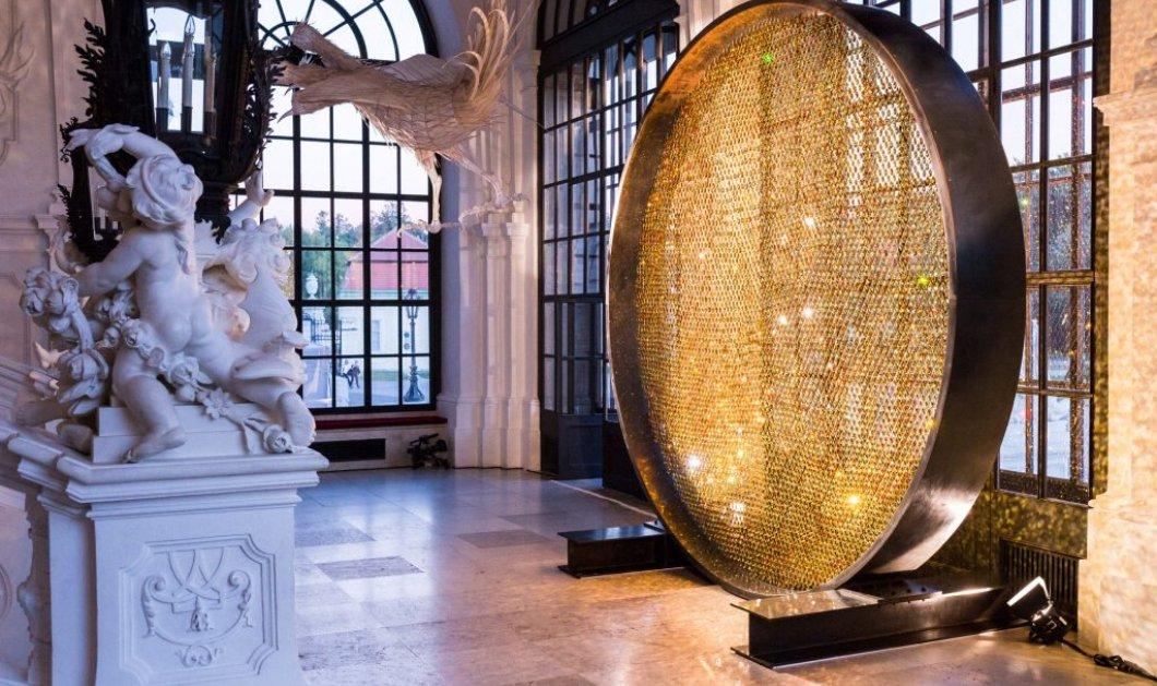 Mε 8.000 ολόχρυσες πέτρες Swarovski έφτιαξαν τον ''ήλιο''  που λάμπει σε παλάτι της Βιέννης - Κυρίως Φωτογραφία - Gallery - Video