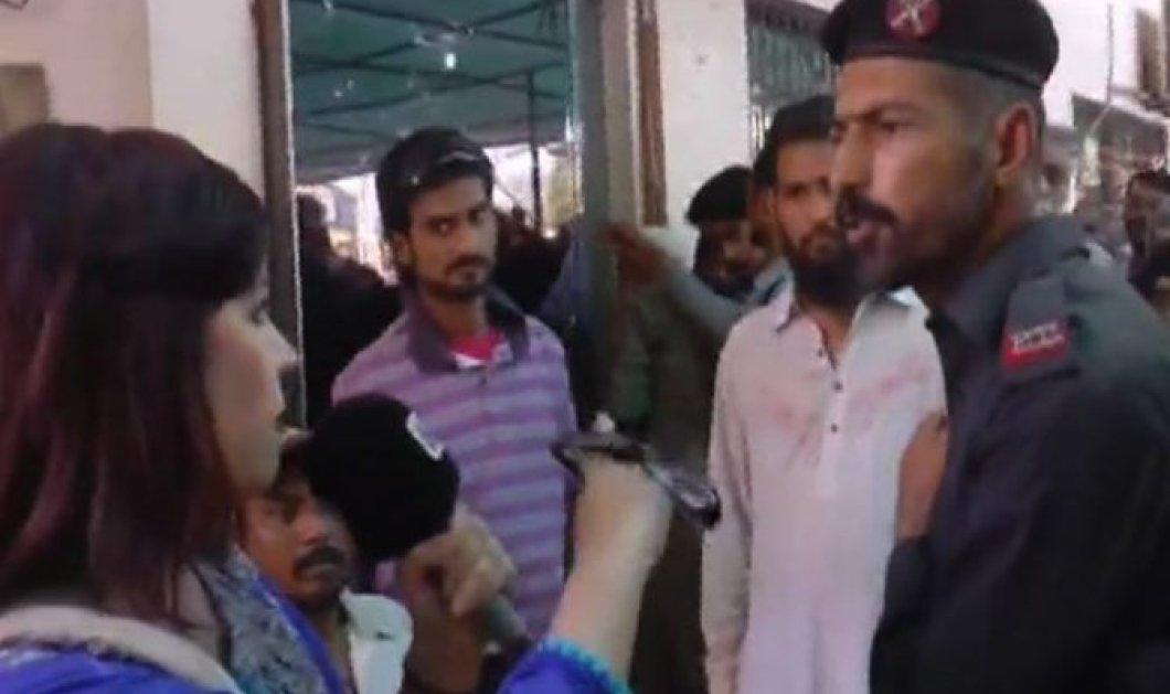 Βίντεο: Αστυνομικός στο Πακιστάν χαστούκισε γυναίκα δημοσιογράφο μπροστά στην κάμερα - Κυρίως Φωτογραφία - Gallery - Video