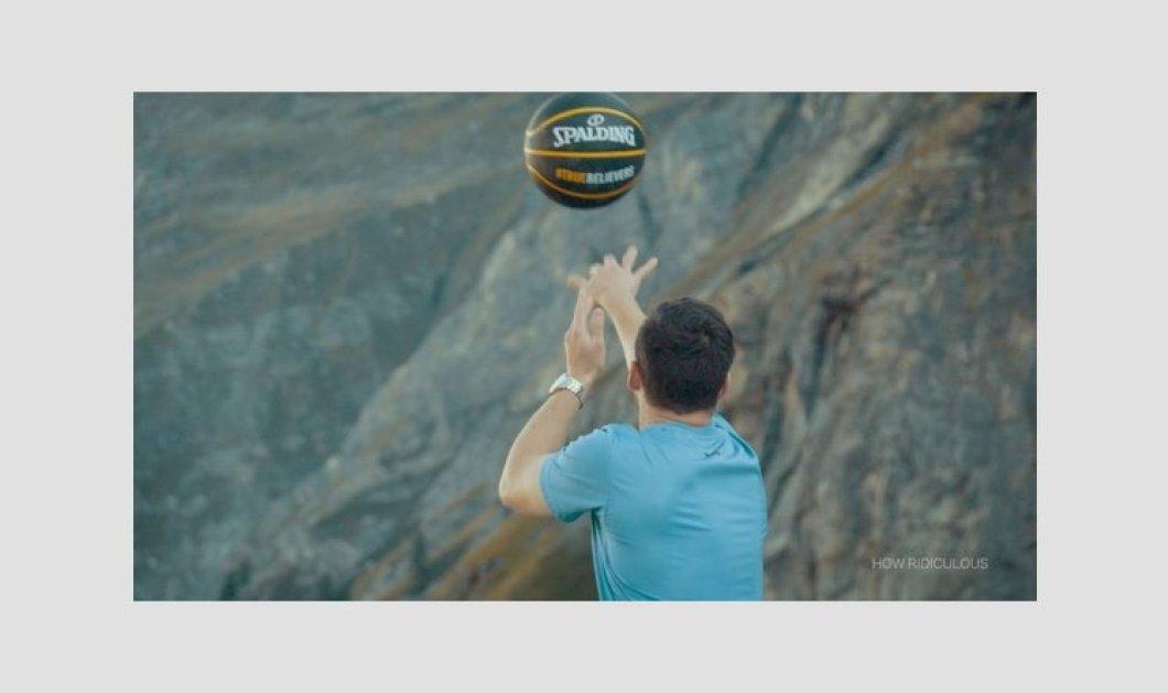 Εντυπωσιακό ρεκόρ Γκίνες: Ευστόχησε σε καλάθι από ύψος 180 μέτρων - Δείτε την απίστευτη βολή του! - Κυρίως Φωτογραφία - Gallery - Video