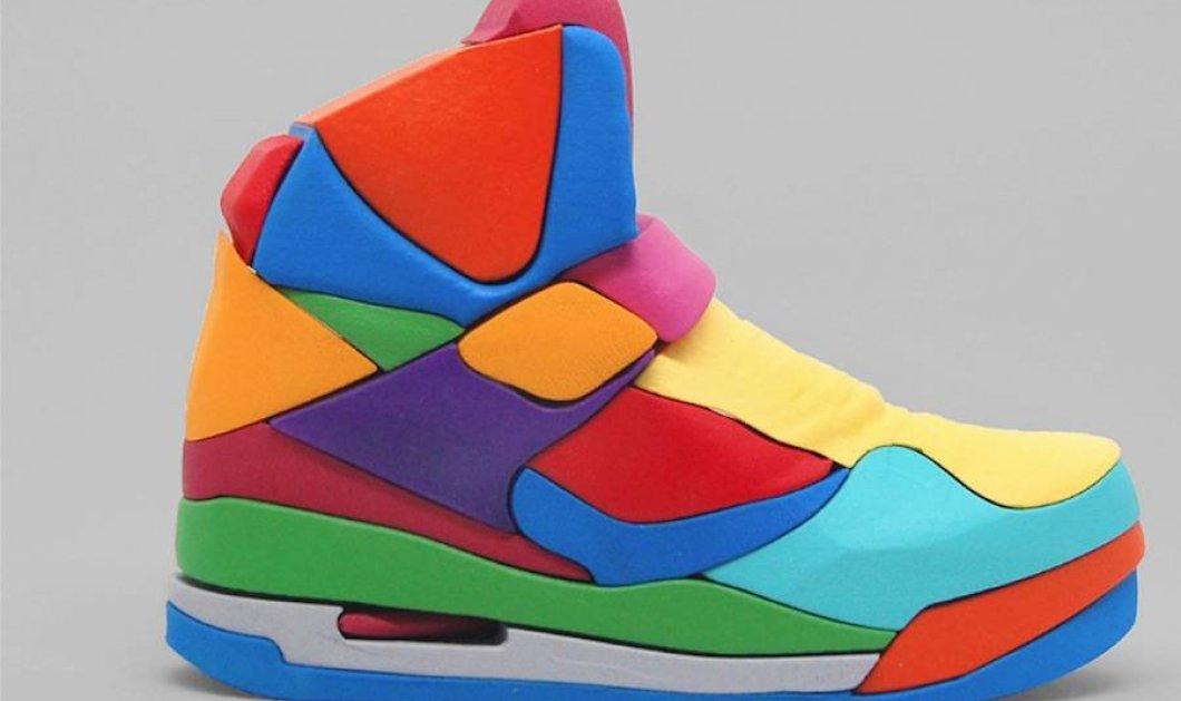 Αυτό το παπούτσι της Nike έγινε τρισδιάστατο παζλ - Μια ξεχωριστή και πολύχρωμη ιδέα ενός βρετανού designer - Κυρίως Φωτογραφία - Gallery - Video