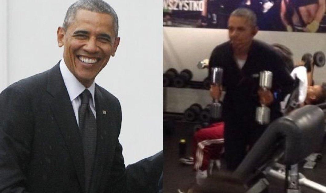 Ο fit Μπάρακ Ομπάμα σε απίθανες φωτό: Δείτε τον να γυμνάζετε εντατικά στο Βερολίνο - Κυρίως Φωτογραφία - Gallery - Video