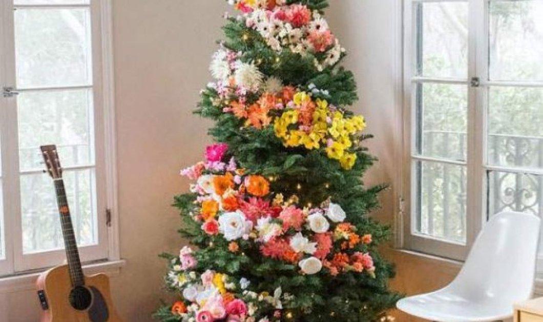 Χριστούγεννα: Στολίστε με λουλούδια το δένδρο αντί για μπάλες (φωτό) – Μια διαφορετική ιδέα - Κυρίως Φωτογραφία - Gallery - Video
