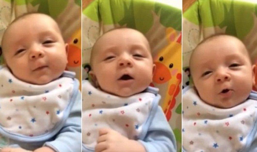 Μωρό 2 μηνών μιλάει & λέει ''Hello''! Δείτε το βίντεο με το βρέφος - θαύμα - Κυρίως Φωτογραφία - Gallery - Video