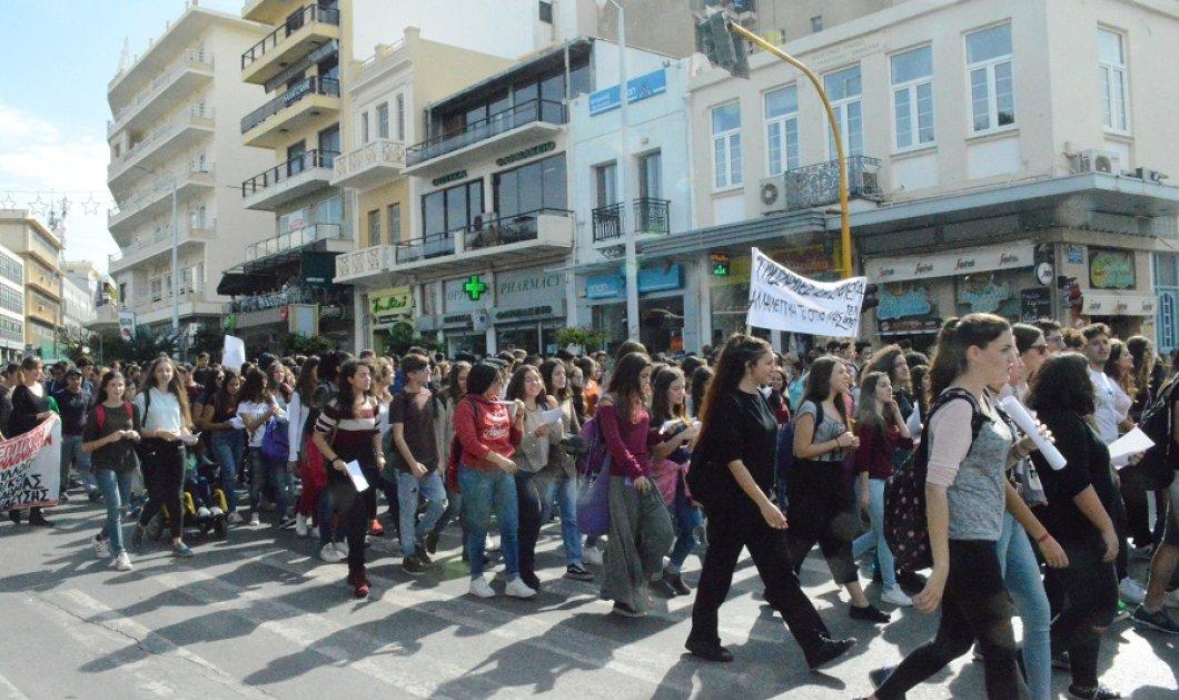 Κρήτη: Καταλήψεις σε 40 γυμνάσια και λύκεια - Διαμαρτυρία μαθητών στο Ηράκλειο! - Κυρίως Φωτογραφία - Gallery - Video
