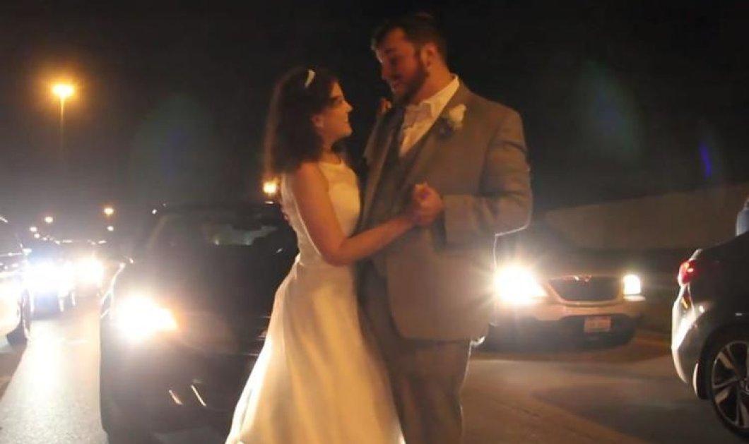 Βίντεο: Ο πιο πρωτότυπος γαμήλιος χορός: Οι νεόνυμφοι σε κυκλοφοριακό κομφούζιο - Κυρίως Φωτογραφία - Gallery - Video