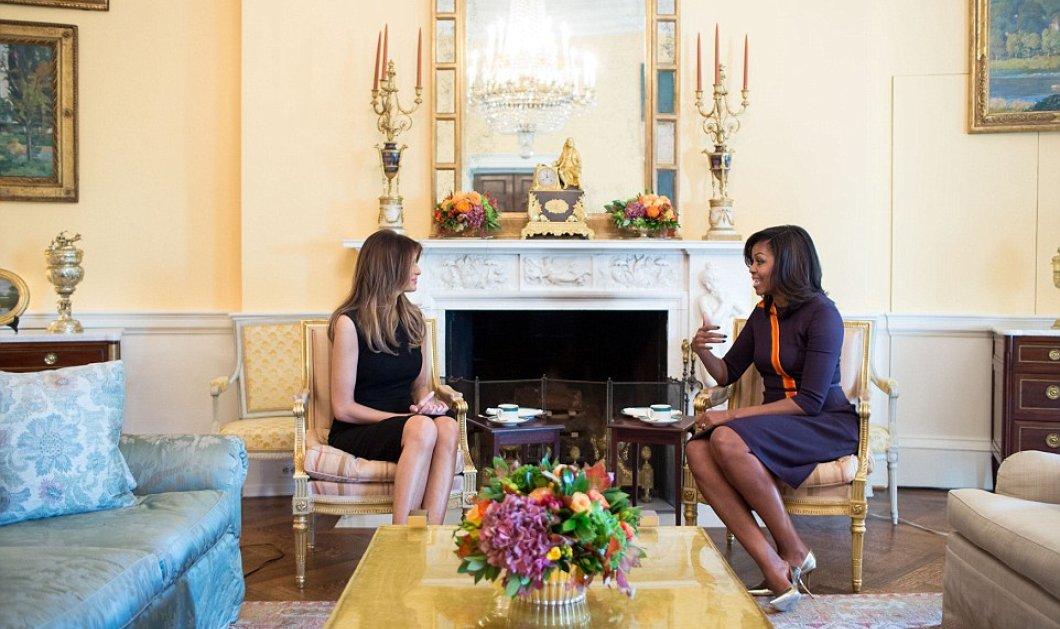''Μελένιες'' οι 2 κυρίες στον Λευκό Οίκο: Οι ''υψηλές'' Μέλανι Τραμπ & Μισέλ Ομπάμα μίλησαν για παιδιά και συζύγους - Κυρίως Φωτογραφία - Gallery - Video