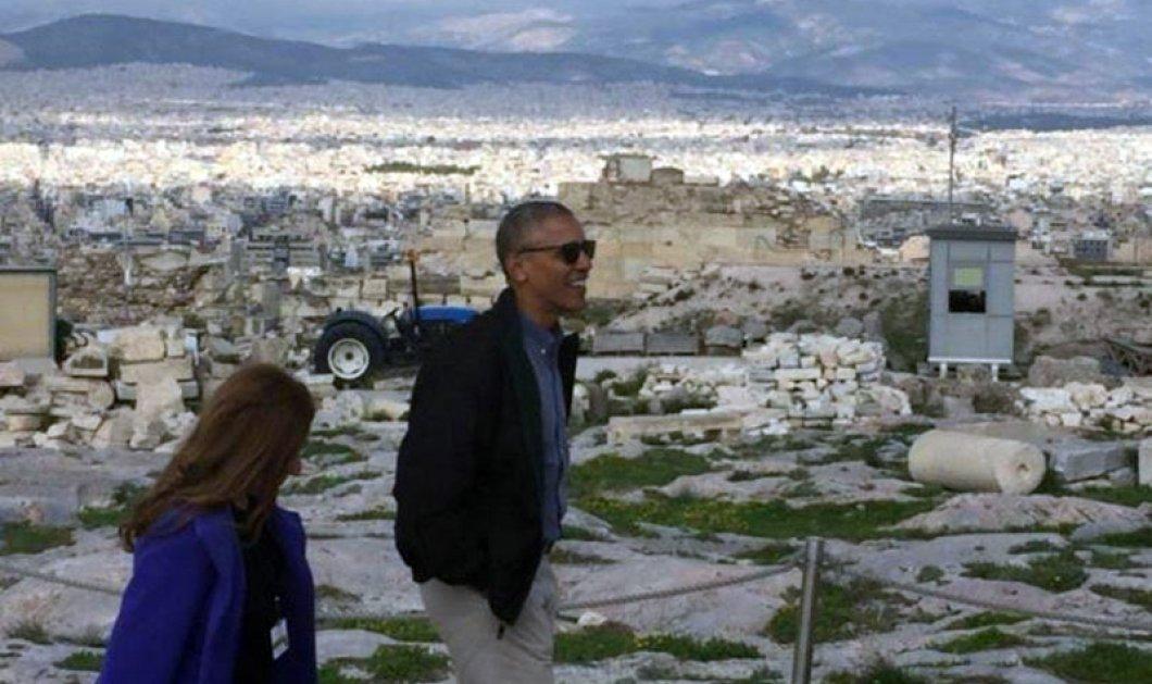 O Μπάρακ Ομπάμα στην Ακρόπολη: Τhank you Mr. President we do need this ad - Κυρίως Φωτογραφία - Gallery - Video