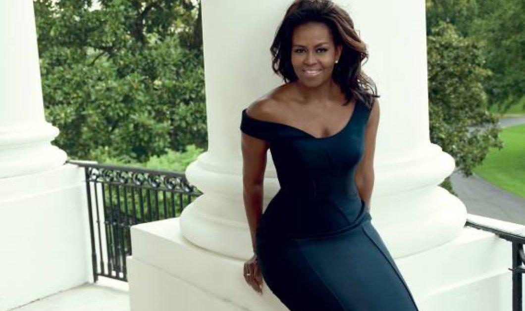 Το θαυμάσιο εξώφυλλο της Vogue  Η 52χρονη Μισέλ Ομπάμα ποζάρει κομψή και  φρέσκια ως πραγματική 781c63d6cc8