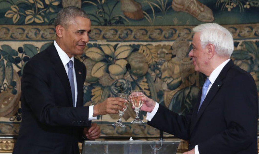 "Tο επίσημο δείπνο προς τιμήν του Αμερικανού προέδρου - Ομπάμα: ""Θα έχετε πάντα τη φιλία μας""  - Κυρίως Φωτογραφία - Gallery - Video"