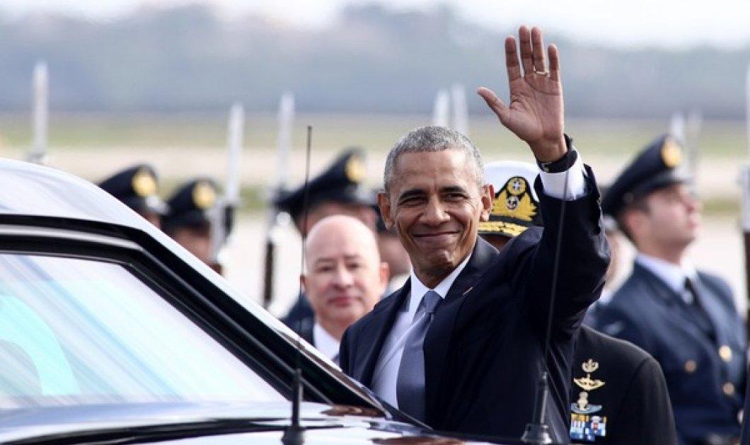 Βίντεο: Η άφιξη του Ομπάμα στην Ακρόπολη - Το ''μπλόκο'' των αστυνομικών & η μαύρη λιμουζίνα - Κυρίως Φωτογραφία - Gallery - Video