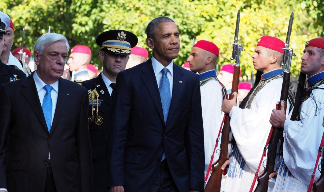 Ομπάμα με Παυλόπουλο: Στο τελευταίο μου ταξίδι έκρινα ότι πρέπει να επισκεφθώ την χώρα που γέννησε την Δημοκρατία - Κυρίως Φωτογραφία - Gallery - Video