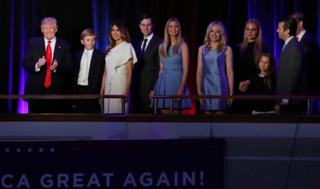 Όλες οι φωτό από την ομιλία Τραμπ: Μελάνια, Ιβάνκα & όλη η οικογένεια δίπλα στο νέο Πρόεδρο - Κυρίως Φωτογραφία - Gallery - Video