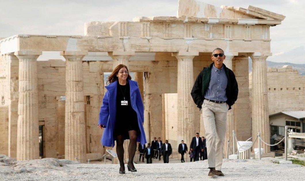 Το πρόσωπο της ημέρας που έγινε διάσημη σε μια νύχτα: Η ξεναγός του Ομπάμα μίλησε στην ΕΡΤ - Όλα όσα της είπε ο Πρόεδρος ΗΠΑ - Κυρίως Φωτογραφία - Gallery - Video