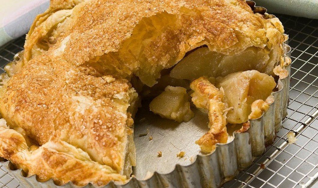 Φτιάξτε μια πανεύκολη και λαχταριστή μηλόπιτα με έτοιμη σφολιάτα και τις οδηγίες του Στ. Παρλιάρου - Κυρίως Φωτογραφία - Gallery - Video
