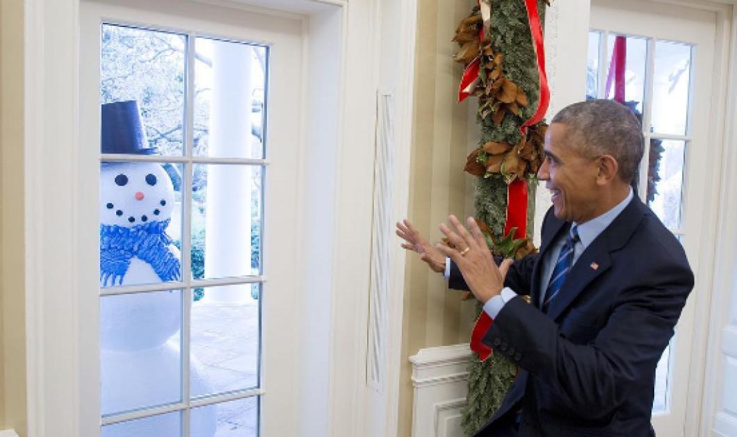 Η Χριστουγεννιάτικη φάρσα των υπαλλήλων του Λευκού Οίκου στον Ομπάμα - Τρόμαξε ο πλανητάρχης  - Κυρίως Φωτογραφία - Gallery - Video