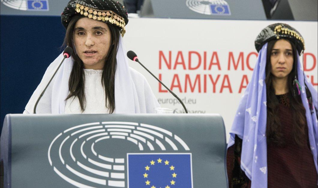 Top Women οι δυο γυναίκες που πήραν το Βραβείου Ζαχάρωφ: Θύματα σεξουαλικής δουλείας από το Ισλαμικό Κράτος - Κυρίως Φωτογραφία - Gallery - Video