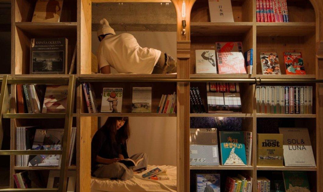 Το τρελό της ημέρας: Στην Ιαπωνία μπορείτε να κοιμηθείτε σε κρεβάτι - ράφι ανάμεσα σε βιβλία - Κυρίως Φωτογραφία - Gallery - Video