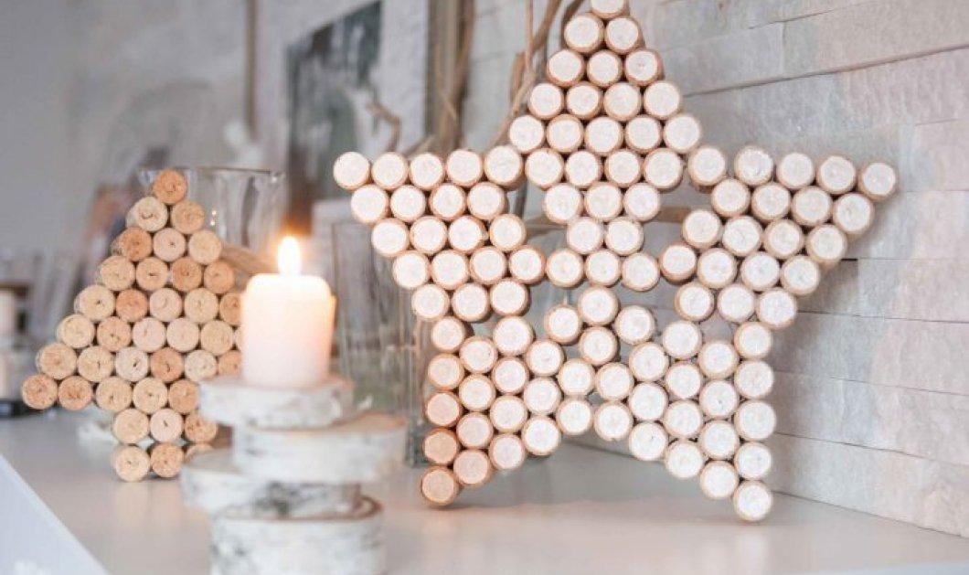 16 θαυμάσιες διακοσμητικές ιδέες για τα Χριστούγεννα, μόνο με τους φελλούς των κρασιών σας: παφφφ.. & καταπλήξτε! (φωτό) - Κυρίως Φωτογραφία - Gallery - Video