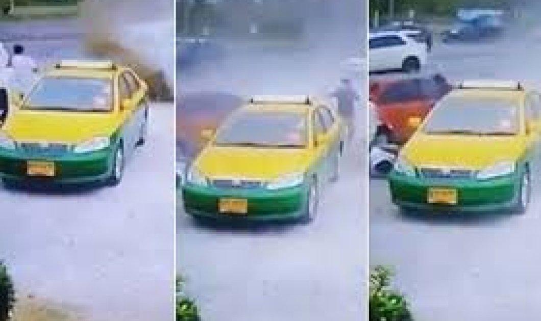 Βίντεο με σκληρές εικόνες από φοβερό τροχαίο όταν το αυτοκίνητο παρέσυρε πεζό  - Κυρίως Φωτογραφία - Gallery - Video