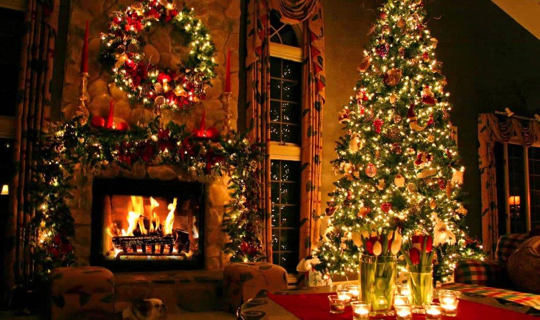 Μαγικές διακοσμήσεις για παραμυθένια Χριστούγεννα πλάι στο τζάκι: Κόκκινο, χρυσό & πράσινο τα χρώματα της γιορτής - Κυρίως Φωτογραφία - Gallery - Video