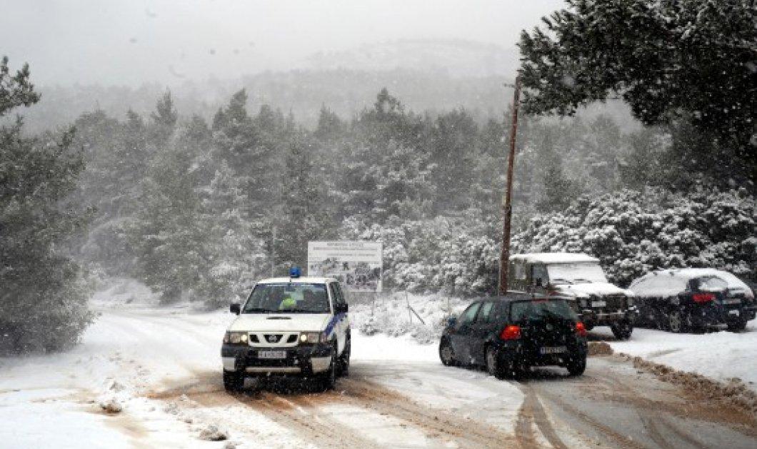 Ποιοι δρόμοι είναι κλειστοί λόγω της χιονόπτωσης-Πού χρειάζονται αλυσίδες - Κυρίως Φωτογραφία - Gallery - Video