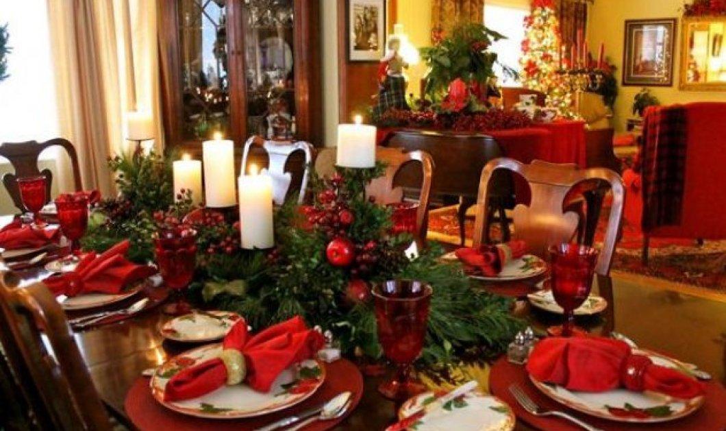 Χριστούγεννα 2016: 10 ιδέες για να στρώσετε το Χριστουγεννιάτικο τραπέζι ή το Πρωτοχρονιάτικο πάρτυ - Κυρίως Φωτογραφία - Gallery - Video