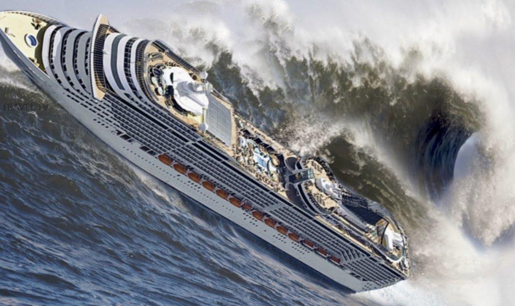 Βίντεο που κόβει την ανάσα: 10 πλοία παλεύουν με φονικά κύματα - Κυρίως Φωτογραφία - Gallery - Video