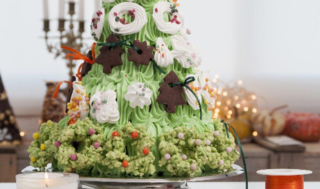 Κέικ χριστουγεννιάτικο δέντρο του Στέλιου Παρλιάρου: Φτιάξτε το με τα παιδιά και στολίστε το όλοι μαζί!  - Κυρίως Φωτογραφία - Gallery - Video