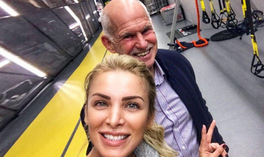 Η selfie της Κατερίνας Καινούργιου με τον Γιώργο Παπανδρέου στο.... γυμναστήριο! - Κυρίως Φωτογραφία - Gallery - Video