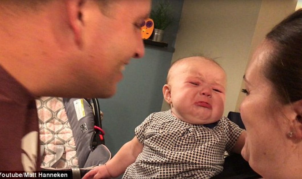 To cutie της ημέρας: Αυτό το ζηλιάρικο μωρό κλαίει κάθε φορά που οι γονείς του φιλιούνται - Κυρίως Φωτογραφία - Gallery - Video