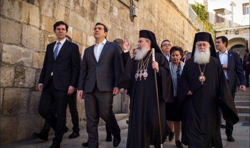 Φωτό & βίντεο από την επίσκεψη Τσίπρα στον Πανάγιο Τάφο & την Ιερουσαλήμ  - Κυρίως Φωτογραφία - Gallery - Video
