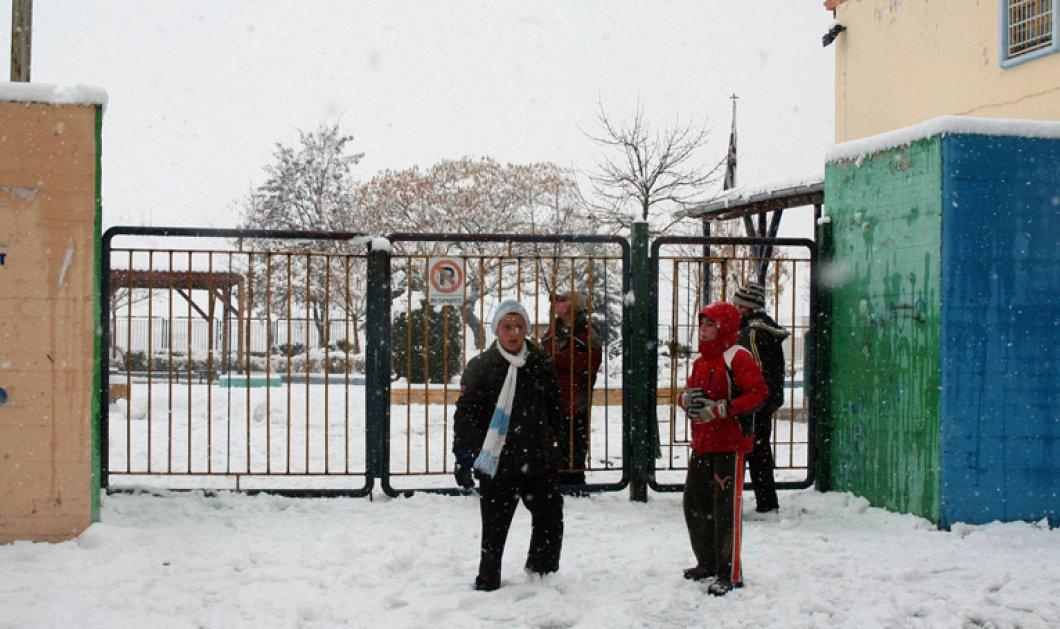 Κλειστά σήμερα όλα τα σχολεία της Αττικής λόγω της επέλασης του χιονιά - Κυρίως Φωτογραφία - Gallery - Video