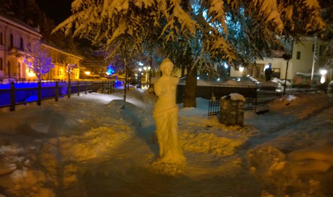 Μια απίθανη ιδέα από έναν φοιτητή καλών Τεχνών : Ιδού η «Αφροδίτη της Φλώρινας», φτιαγμένη από χιόνι! - Κυρίως Φωτογραφία - Gallery - Video