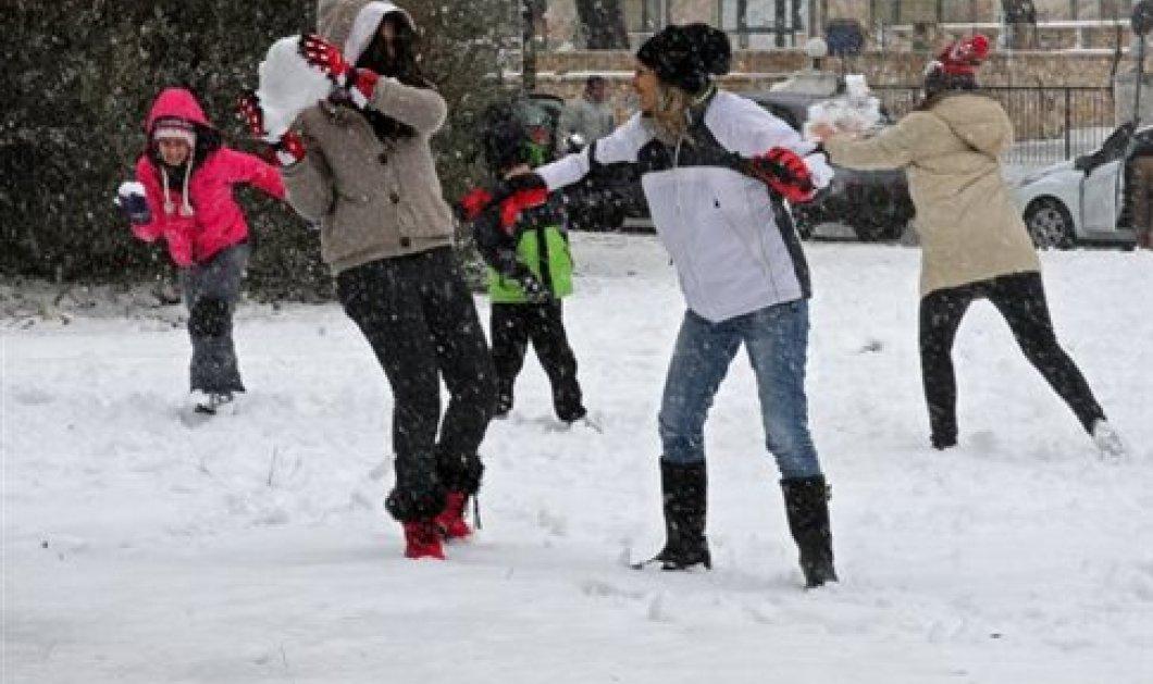 Στον πάγο η Ελλάδα: Χιόνια και καταιγίδες σε όλη τη χώρα - Δείτε την πρόγνωση του καιρού - Κυρίως Φωτογραφία - Gallery - Video