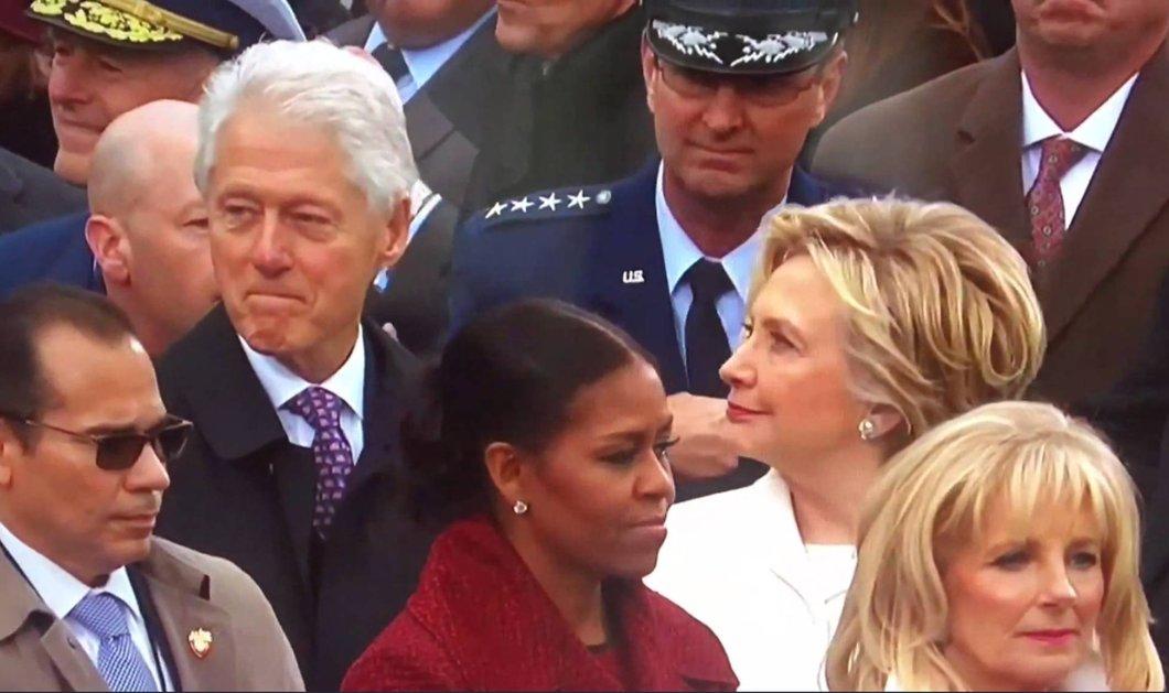 Βίντεο: Την Ιβάνκα ή την Μελάνια χάζευε ο Μπιλ Κλίντον; Πάντως, τον τσάκωσε η Χίλαρι και του έκοψε τον βήχα - Κυρίως Φωτογραφία - Gallery - Video