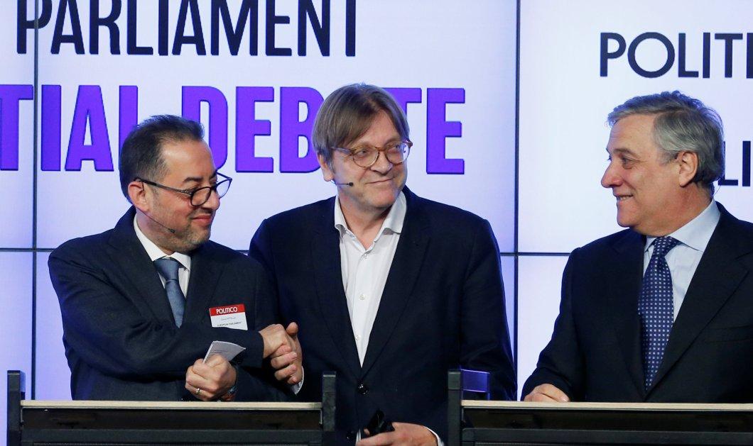 Νέος πρόεδρος του Ευρωκοινοβουλίου ο δημοσιογράφος Αντόνιο Ταγιάνι - Επικράτησε του σοσιαλιστή Πιτέλα   - Κυρίως Φωτογραφία - Gallery - Video