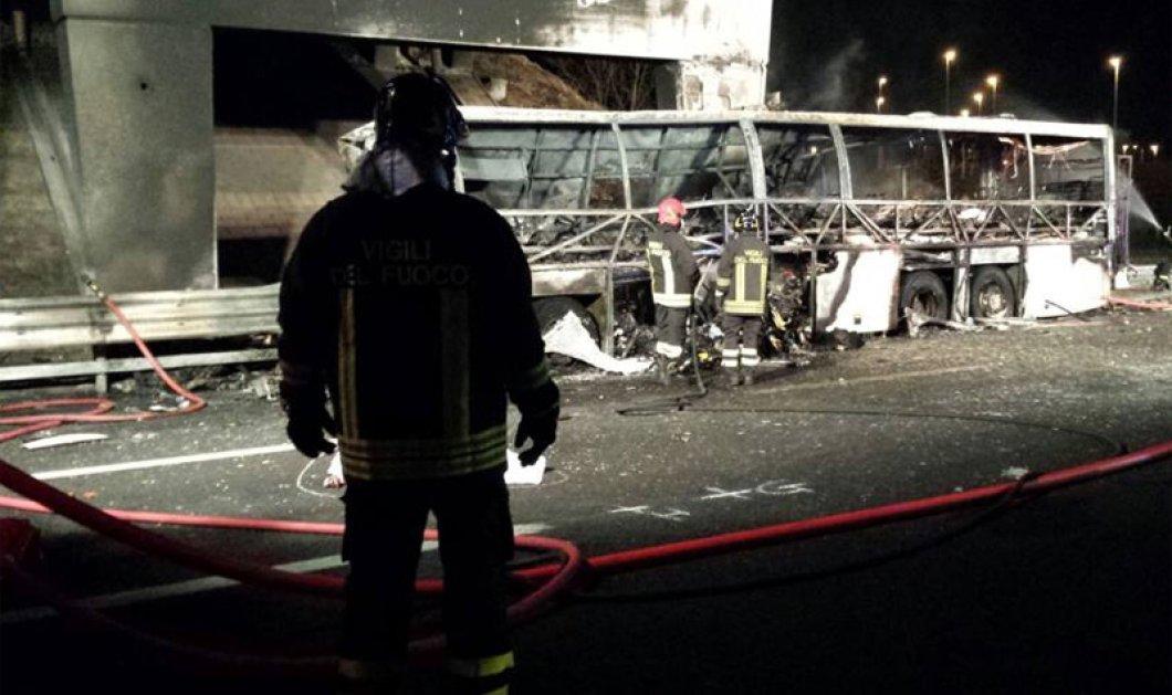 Νέα τραγωδία στην Ιταλία: Τουλάχιστον 16 νεκροί από πρόσκρουση σε πυλώνα λεωφορείου που μετέφερε μαθητές - Κυρίως Φωτογραφία - Gallery - Video