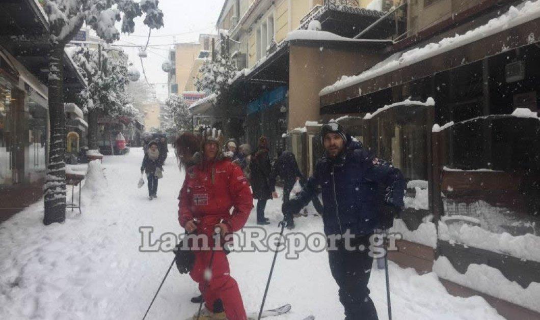 Πάμε στο κέντρο της Λαμίας να κάνουμε σκι και σνόουμπορντ; Φώτο και βίντεο - Κυρίως Φωτογραφία - Gallery - Video
