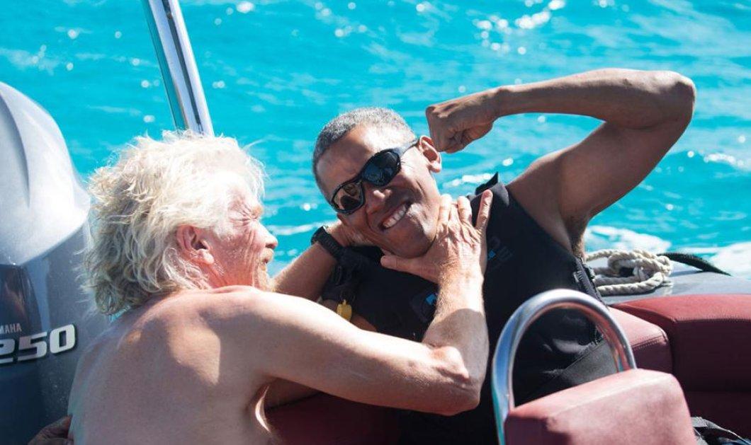 Βίντεο: Να λοιπόν ο Μπαράκ Ομπάμα και ο Ρίτσαρντ Μπράνσον διαγωνίζονται στο kite surf   - Κυρίως Φωτογραφία - Gallery - Video