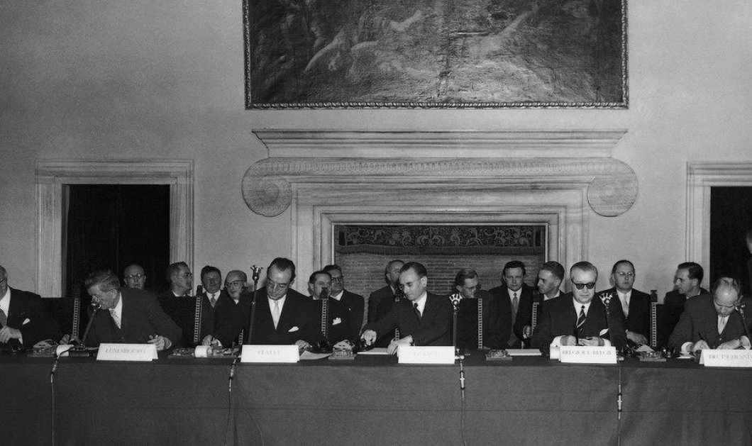 Το χρονικό της ενοποίησης της Ευρώπης από τη συνθήκη της ΕΚΑΧ και της Ρώμης έως σήμερα - Κυρίως Φωτογραφία - Gallery - Video