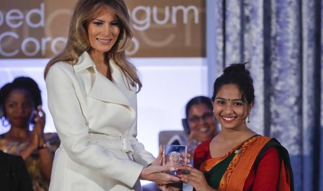 Απίστευτο- Η Μελάνια Τραμπ βράβευσε γενναίες γυναίκες από Συρία & Υεμένη φορώντας γόβες Louboutin -Φώτο & Βίντεο - Κυρίως Φωτογραφία - Gallery - Video