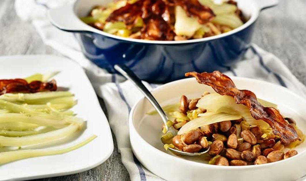 Φασόλια μπαρμπούνια στον φούρνο με μουστάρδα, πελτέ & πετιμέζι φινόκιο & μπέικον μια υπέροχη συνταγή του Αλέξανδρου Παπανδρέου - Κυρίως Φωτογραφία - Gallery - Video