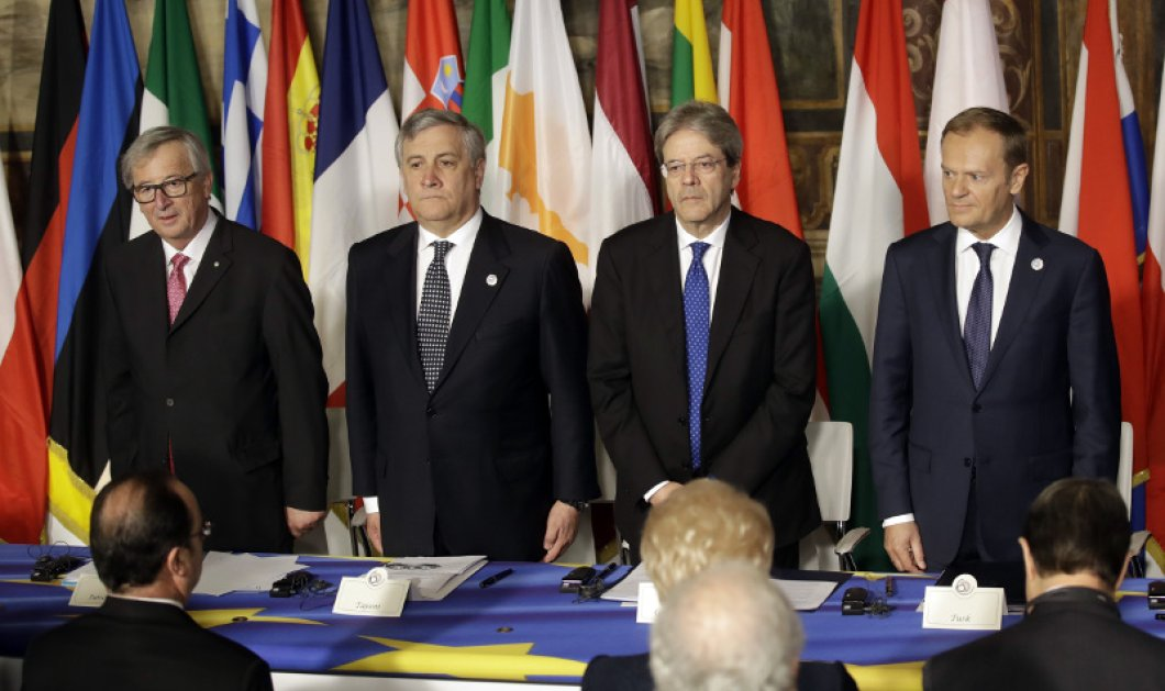 Ρώμη: Στο Καπιτώλιο οι αρχηγοί των κρατών μελών της ΕΕ - Υπέγραψαν την Διακήρυξη - Κυρίως Φωτογραφία - Gallery - Video