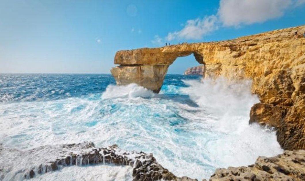Κατέρρευσε στη θάλασσα το «Γαλάζιο Παράθυρο» της Μάλτας - Κυρίως Φωτογραφία - Gallery - Video