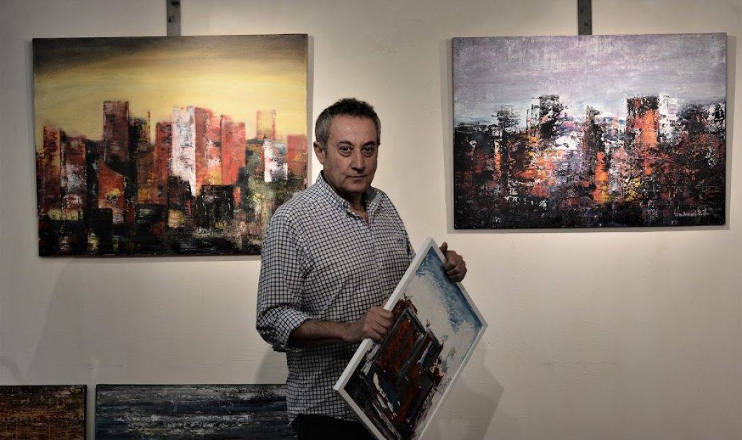 Ο φίλος - δημοσιογράφος Αντρέας Κωνσταντάτος έγινε ζωγράφος! Σήμερα η Έκθεση  - Κυρίως Φωτογραφία - Gallery - Video
