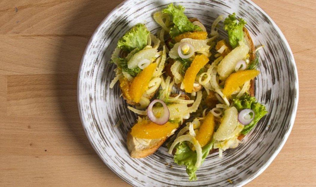 """""""Απογειωτικές"""" μπρουσκέτες: Με φινόκιο, λεμόνι, πορτοκάλι, τζίντζερ, ο Άκης Πετρετζίκης στα κέφια του  - Κυρίως Φωτογραφία - Gallery - Video"""