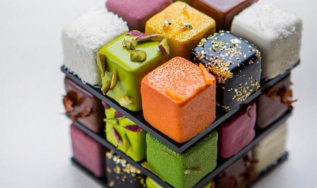 Αυτοί οι Κύβοι του Ρούμπικ είναι γλυκά- γλυπτά που έφτιαξε ο καλύτερος ζαχαροπλάστης στον κόσμο! -Φώτο - Κυρίως Φωτογραφία - Gallery - Video