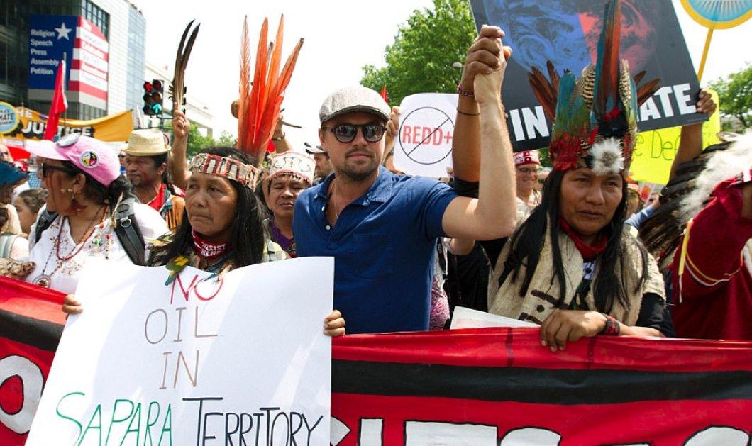 «Πρωτοστάτης» ο Ντι Κάπριο στις διαδηλώσεις κατά του Τραμπ για την κλιματική αλλαγή -Φώτο & Βίντεο - Κυρίως Φωτογραφία - Gallery - Video