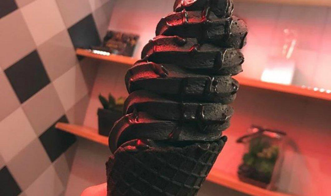 Το πιο hot ή cool παγωτό του καλοκαιριού: Είναι κατάμαυρο και μόδα σε όλο τον πλανήτη -Φώτο - Κυρίως Φωτογραφία - Gallery - Video