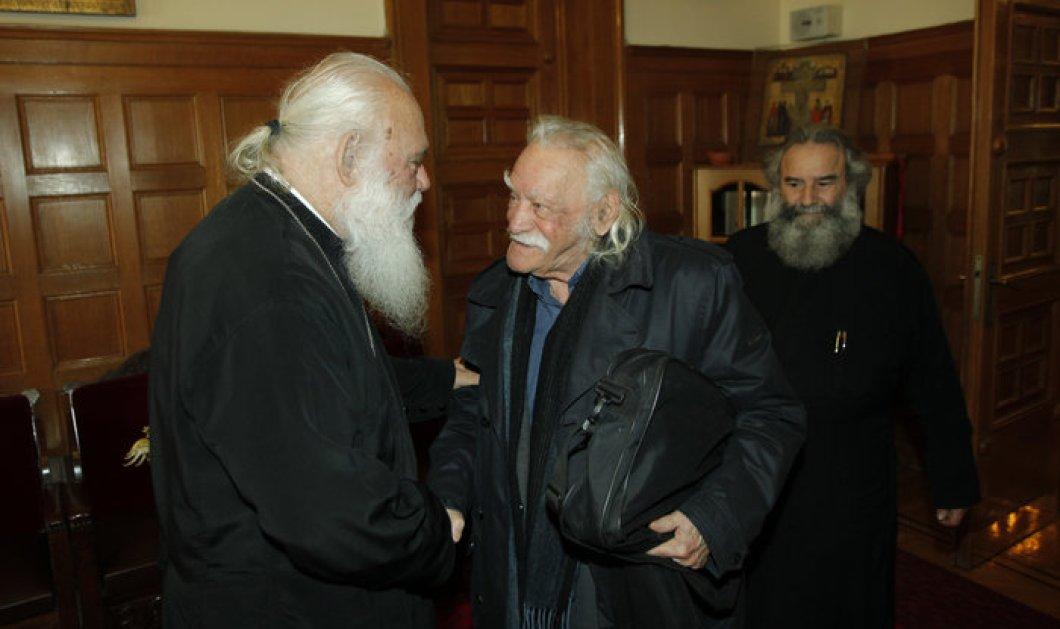 """Μανώλης Γλέζος σε Ιερώνυμο: """"Θέλω να φροντίσεις να έχω θρησκευτική κηδεία... -Φώτο - Κυρίως Φωτογραφία - Gallery - Video"""